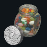 "The Beat Goes On Glass Candy Jar<br><div class=""desc"">Fun musical notes pattern in black &amp; white</div>"