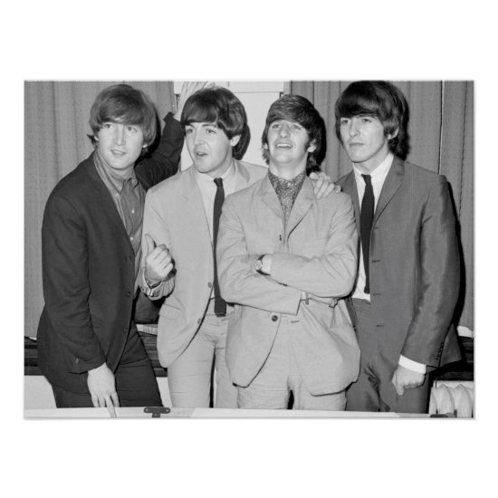 The Beatles   B&W Photo Poster