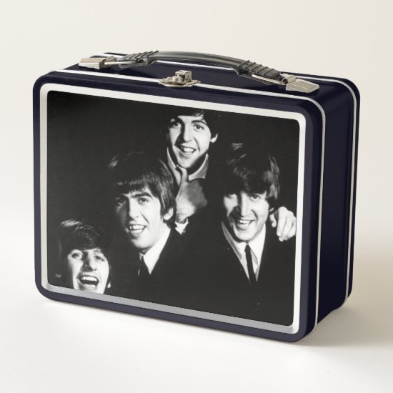 The Beatles | Black & White Photo Metal Lunch Box