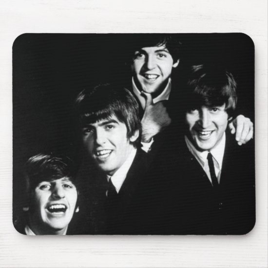 The Beatles | Black & White Photo Mouse Pad