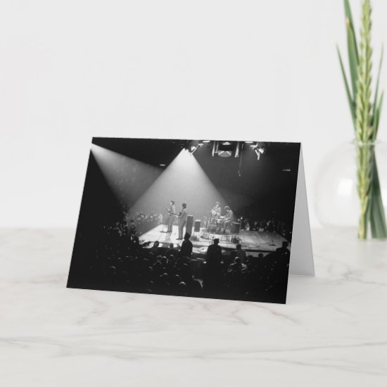 The Beatles | Concert Performance B&W Card