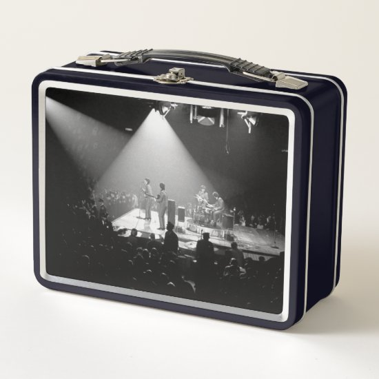 The Beatles | Concert Performance B&W Metal Lunch Box