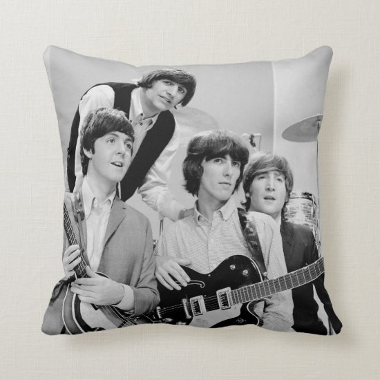 The Beatles | In B&W Throw Pillow