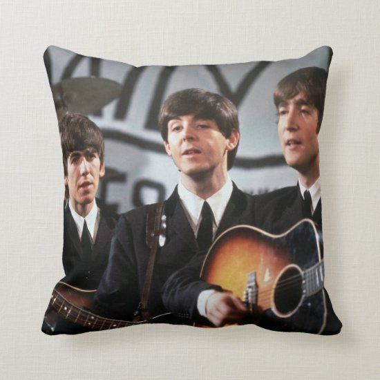 The Beatles | Performing Throw Pillow