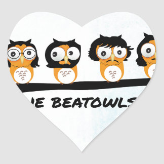 The Beatowls Heart Sticker