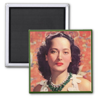 the beauteous Merle Oberon 2 Inch Square Magnet