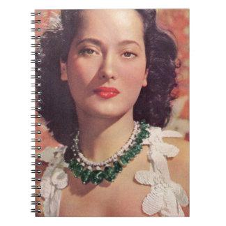 the beauteous Merle Oberon Notebook