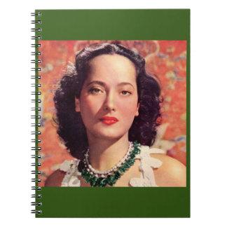the beauteous Merle Oberon Spiral Notebook
