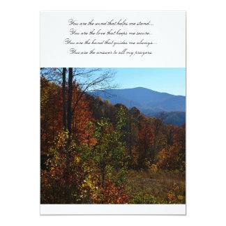 The beautiful Blue Ridge Mountains during Fall Card