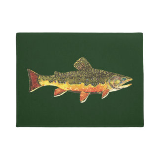 The Beautiful Brook Trout Doormat