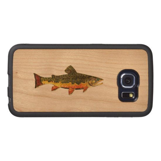 The Beautiful Brook Trout Fisherman's Wood Phone Case