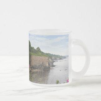 The beautiful coast of Newport Rhode Island 10 Oz Frosted Glass Coffee Mug