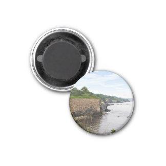 The beautiful coast of Newport Rhode Island 1 Inch Round Magnet
