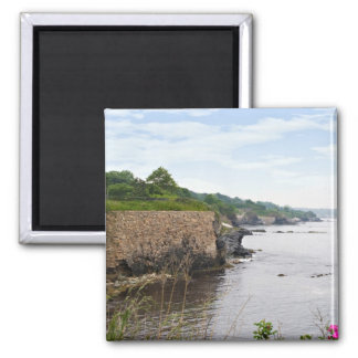 The beautiful coast of Newport Rhode Island 2 Inch Square Magnet