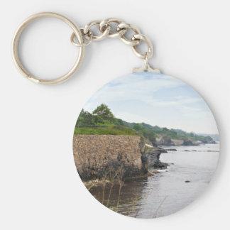 The beautiful coast of Newport Rhode Island Basic Round Button Keychain