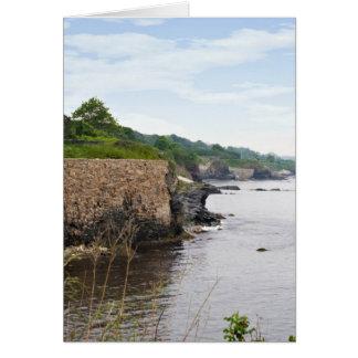 The beautiful coast of Newport Rhode Island Card