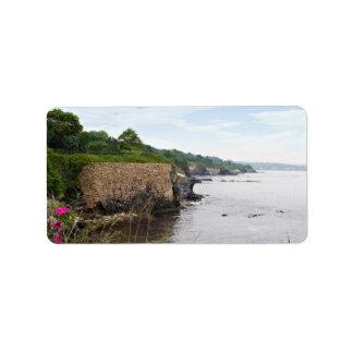 The beautiful coast of Newport Rhode Island Label