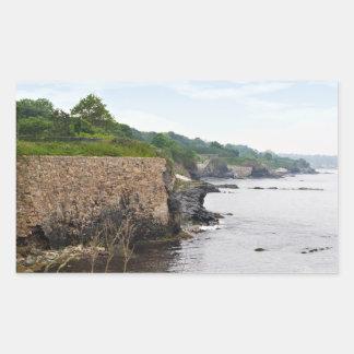 The beautiful coast of Newport Rhode Island Rectangular Sticker