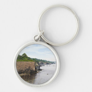 The beautiful coast of Newport Rhode Island Silver-Colored Round Keychain