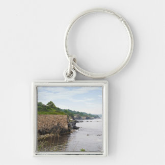 The beautiful coast of Newport Rhode Island Silver-Colored Square Keychain