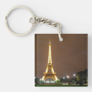 The Beautiful Eiffel Tower Double-Sided Square Acrylic Keychain