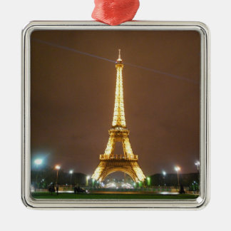 The Beautiful Eiffel Tower Metal Ornament
