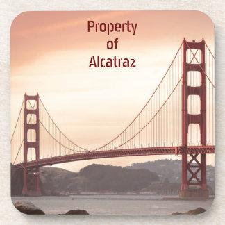 The beautiful Golden Gate Bridge in San Francisco Beverage Coaster