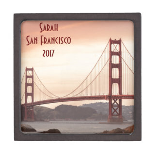 The beautiful Golden Gate Bridge in San Francisco Jewelry Box