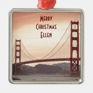 The beautiful Golden Gate Bridge in San Francisco Metal Ornament