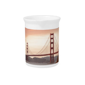 The beautiful Golden Gate Bridge in San Francisco Pitcher