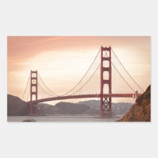 The beautiful Golden Gate Bridge in San Francisco Rectangular Sticker