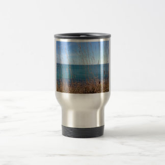 The beautiful Grass and Sea 15 Oz Stainless Steel Travel Mug