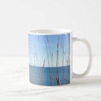 The beautiful Grass and Sea Classic White Coffee Mug