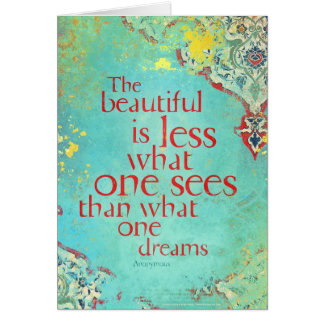 The beautiful is less... card