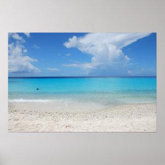 The beautiful Kenepa Grandi beach of Curacao Posters