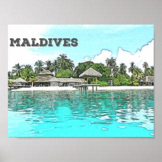 The Beautiful Maldives Poster