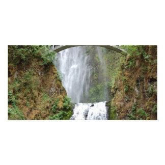 The beautiful Multnomah Waterfall in Oregon Card