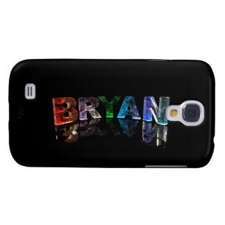 The Beautiful Name Bryan in 3D Lights Galaxy S4 Cover