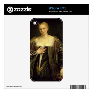 The Beautiful Nani (oil on canvas) Decal For iPhone 4