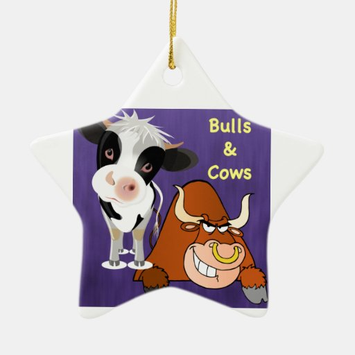 The beautiful one and the beast Cowstyle Ceramic Ornament