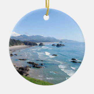 The Beautiful Oregon Coast from Ecola Park Christmas Tree Ornament