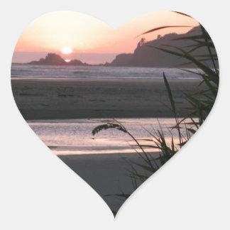 The Beautiful Oregon Coast Heart Sticker