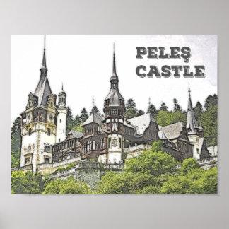 The Beautiful Peles Castle in Romania Poster