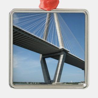 The Beautiful  Ravenel Bridge Metal Ornament