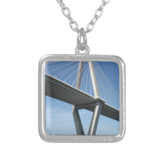 The Beautiful  Ravenel Bridge Square Pendant Necklace