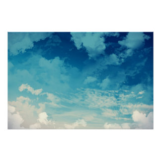 The beautiful sky... Clouds Poster