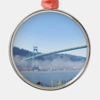 The Beautiful St. Johns Bridge Metal Ornament