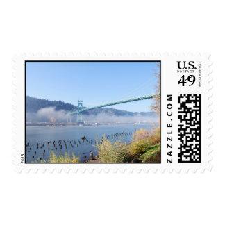 The Beautiful St. Johns Bridge Postage Stamp