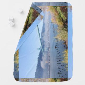 The Beautiful St. Johns Bridge Swaddle Blanket