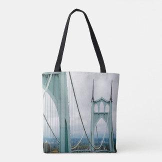 The beautiful St. John's Bridge Tote Bag